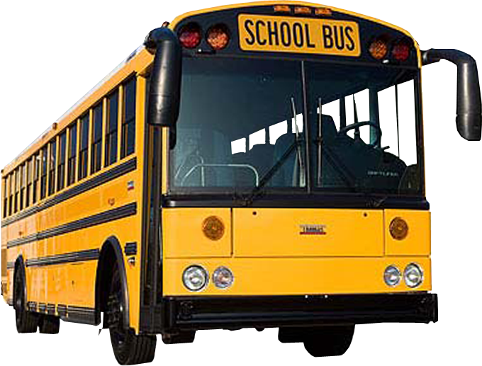 Transparent background image . Driver clipart yellow school bus