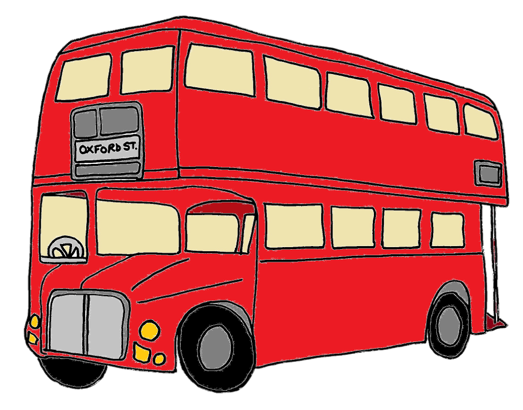 Picture clipart bus. London pencil and in