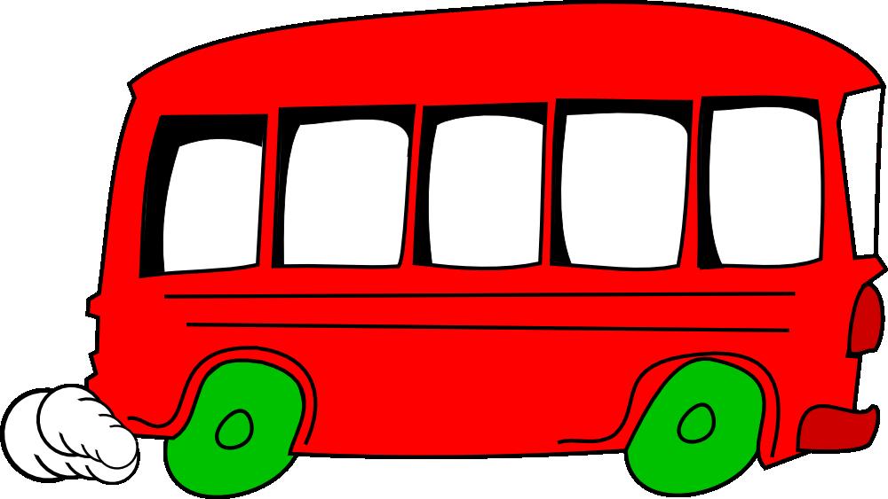 Transportation clipart name. Onlinelabels clip art bus