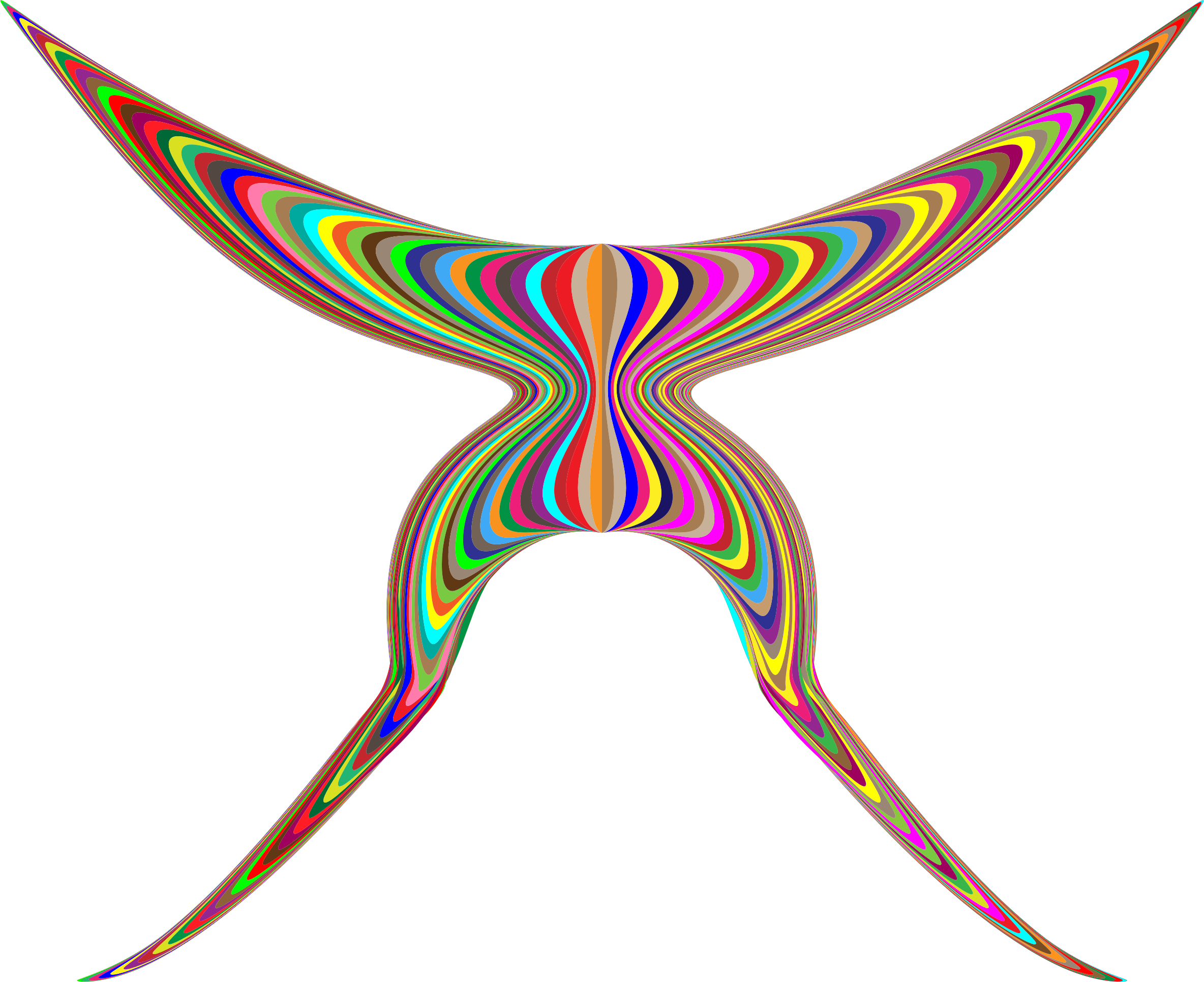 Colorful butterfly big image. Wing clipart abstract