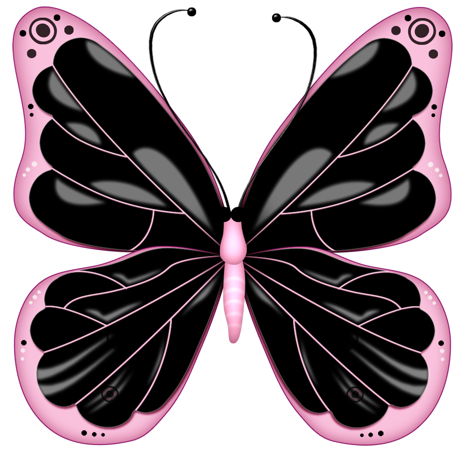 Black and pink transparent. Frog clipart butterfly