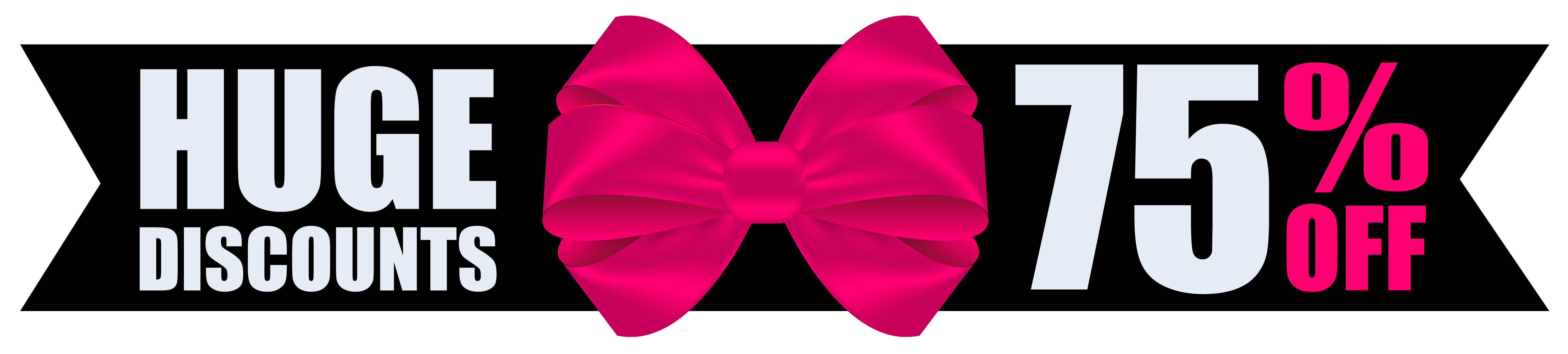 Black friday with bow. Clipart butterfly banner