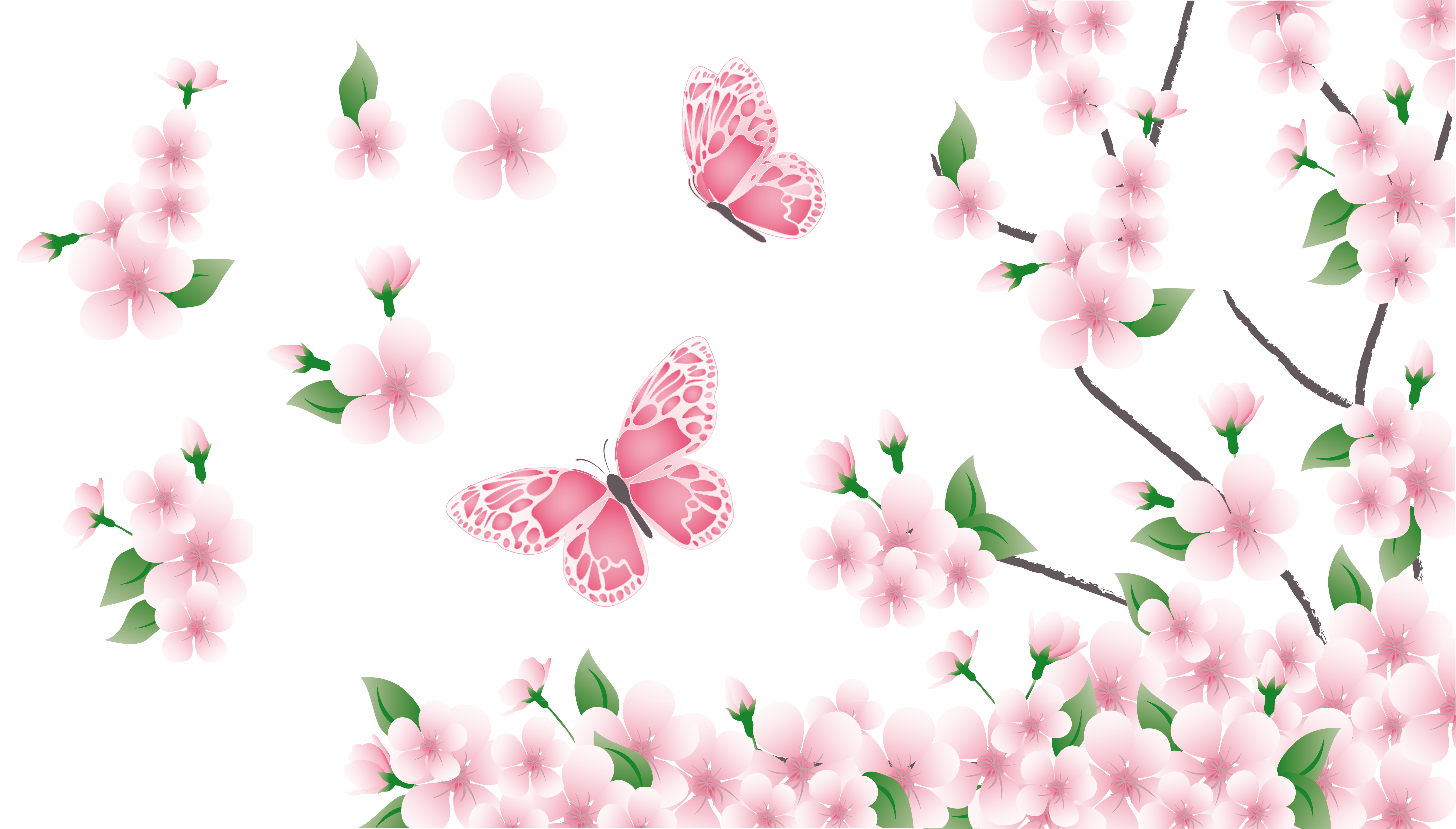 Fiesta clipart spring. Branch with pink flowers