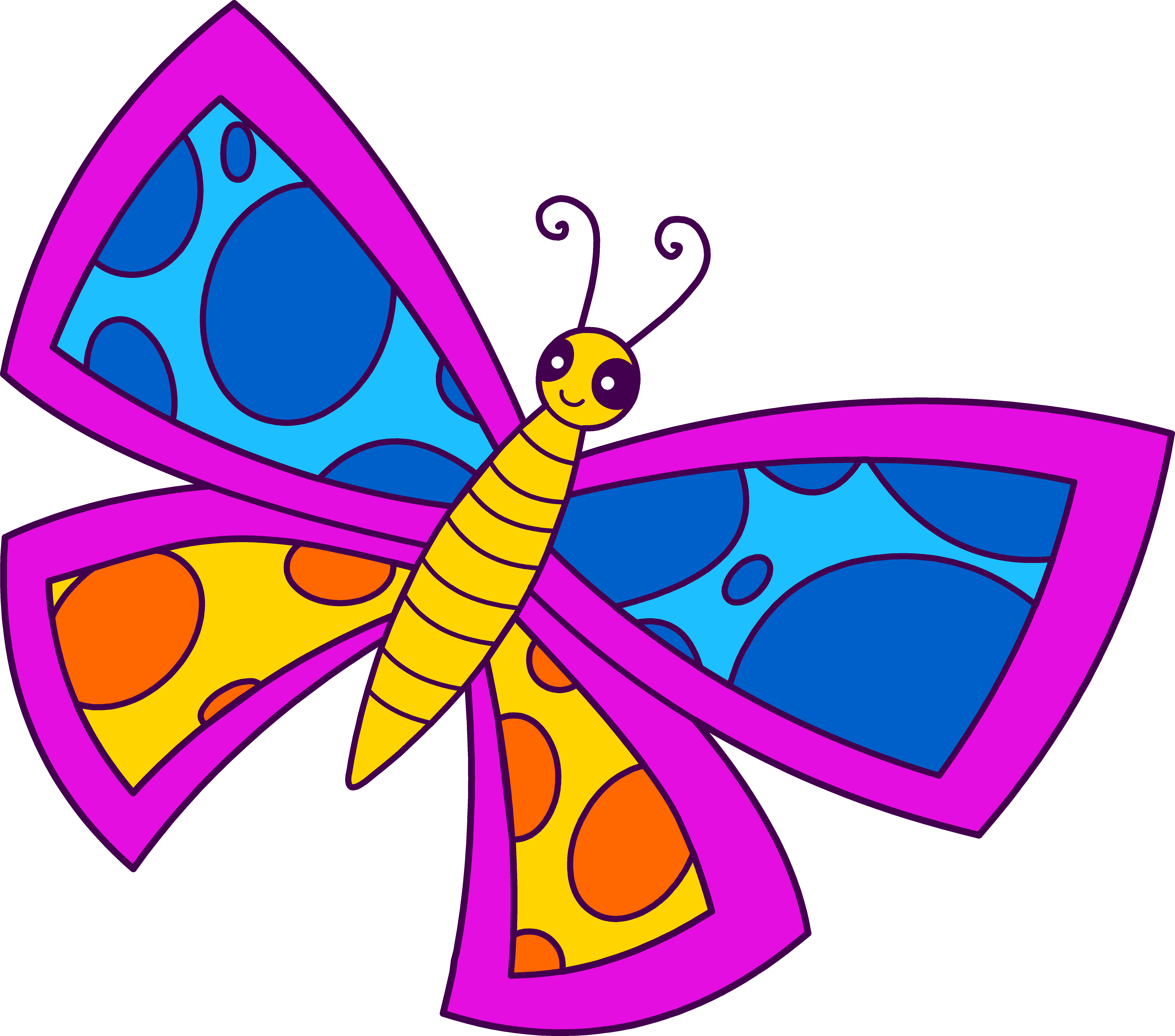 Clip art butterfly flowers. Crops clipart spring