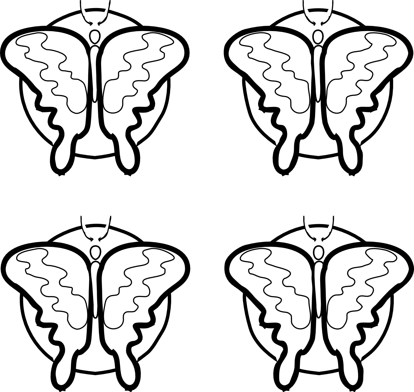 Butterfly black and white. Oranges clipart coloring