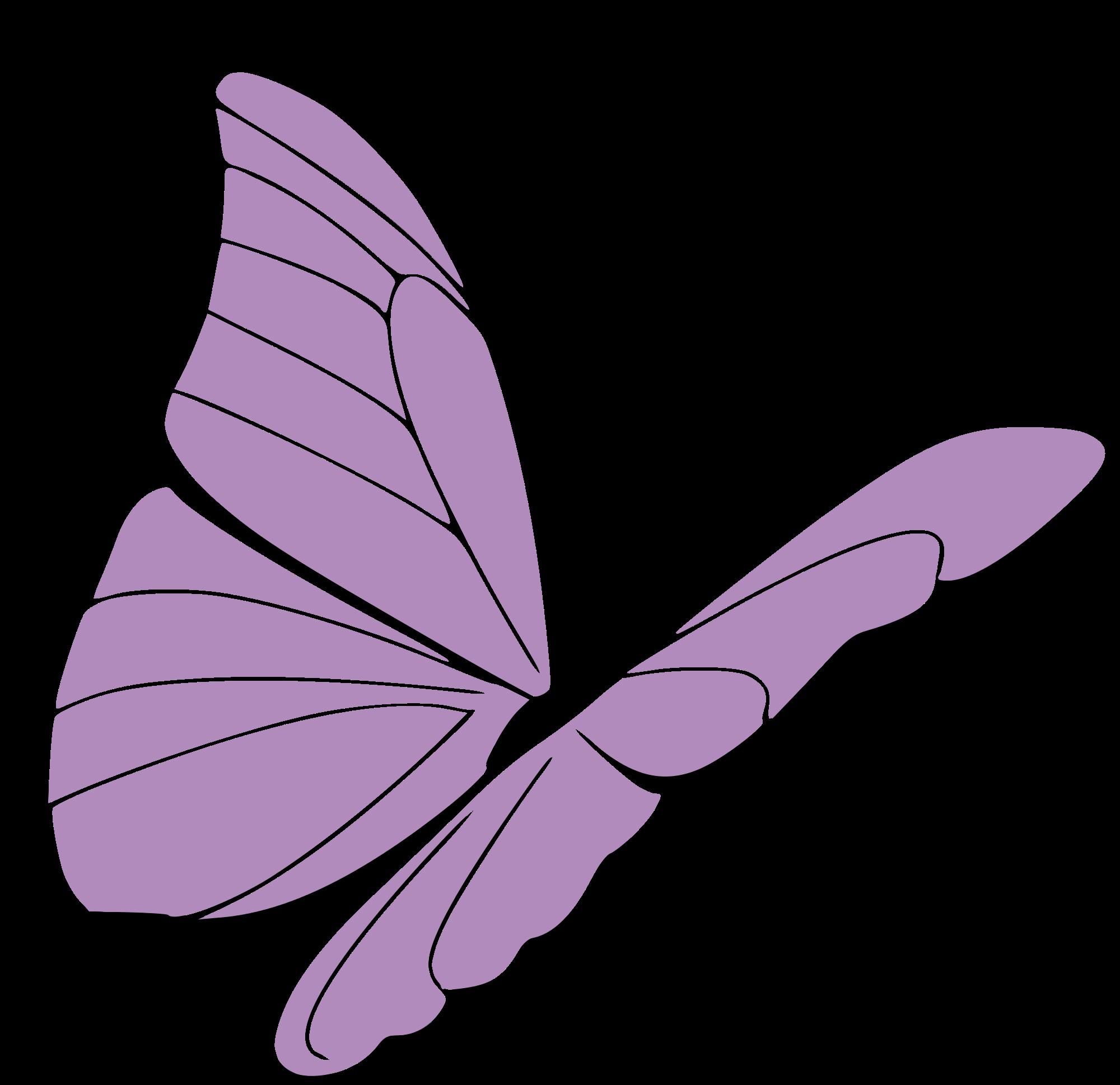 Clipart butterfly borderline. File presquesage papillon violet