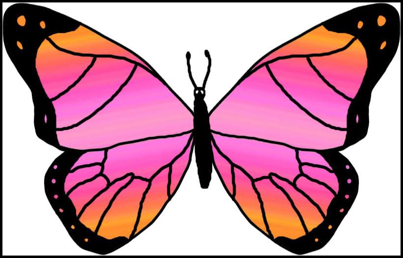 Butterflies cartoon clipartix. Hand clipart butterfly