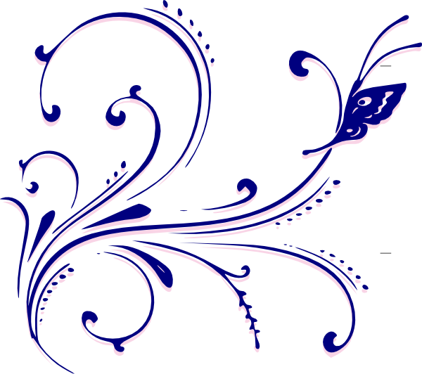 Flourish clip art at. Butterfly vector png