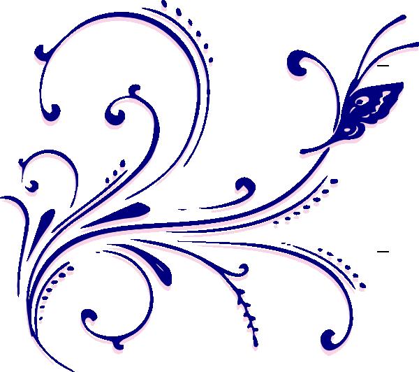 Clipart butterfly corner. Flourish clip art at