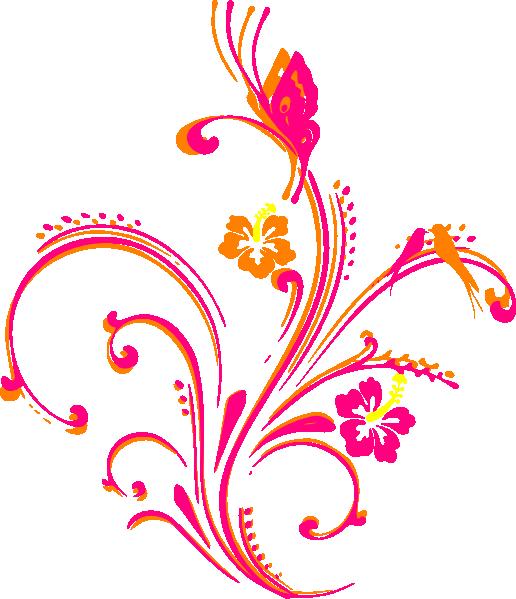 Clipart butterfly corner. Scroll free clip art