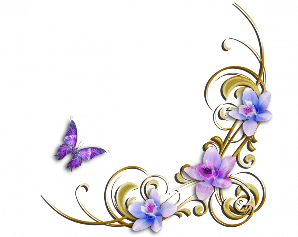 Tubes varies png pour. Clipart butterfly corner