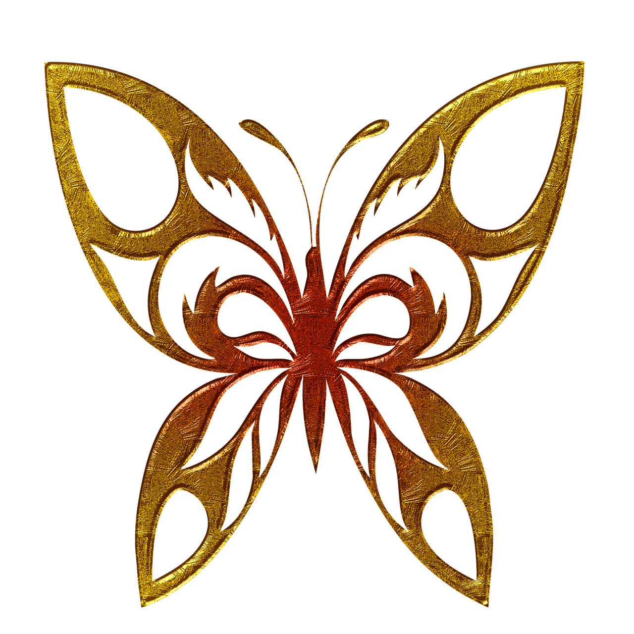 Clipart butterfly couple. Golden png photos