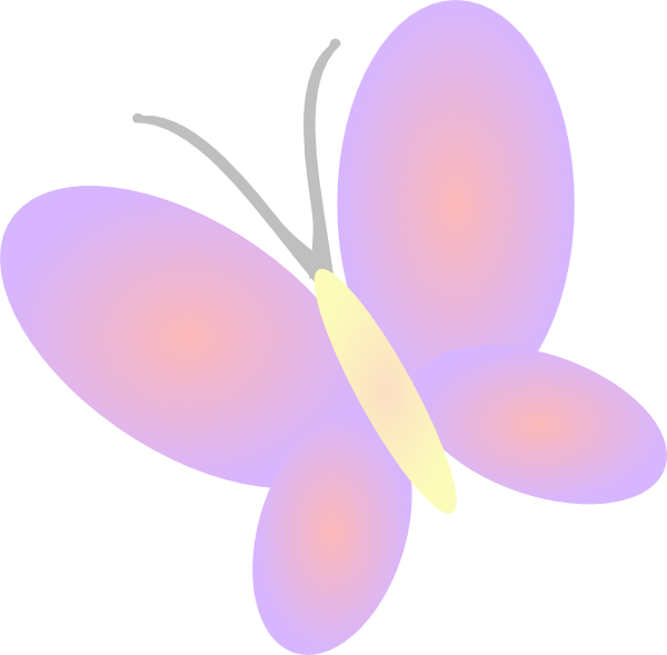 Lilac clip art at. Flower clipart butterfly