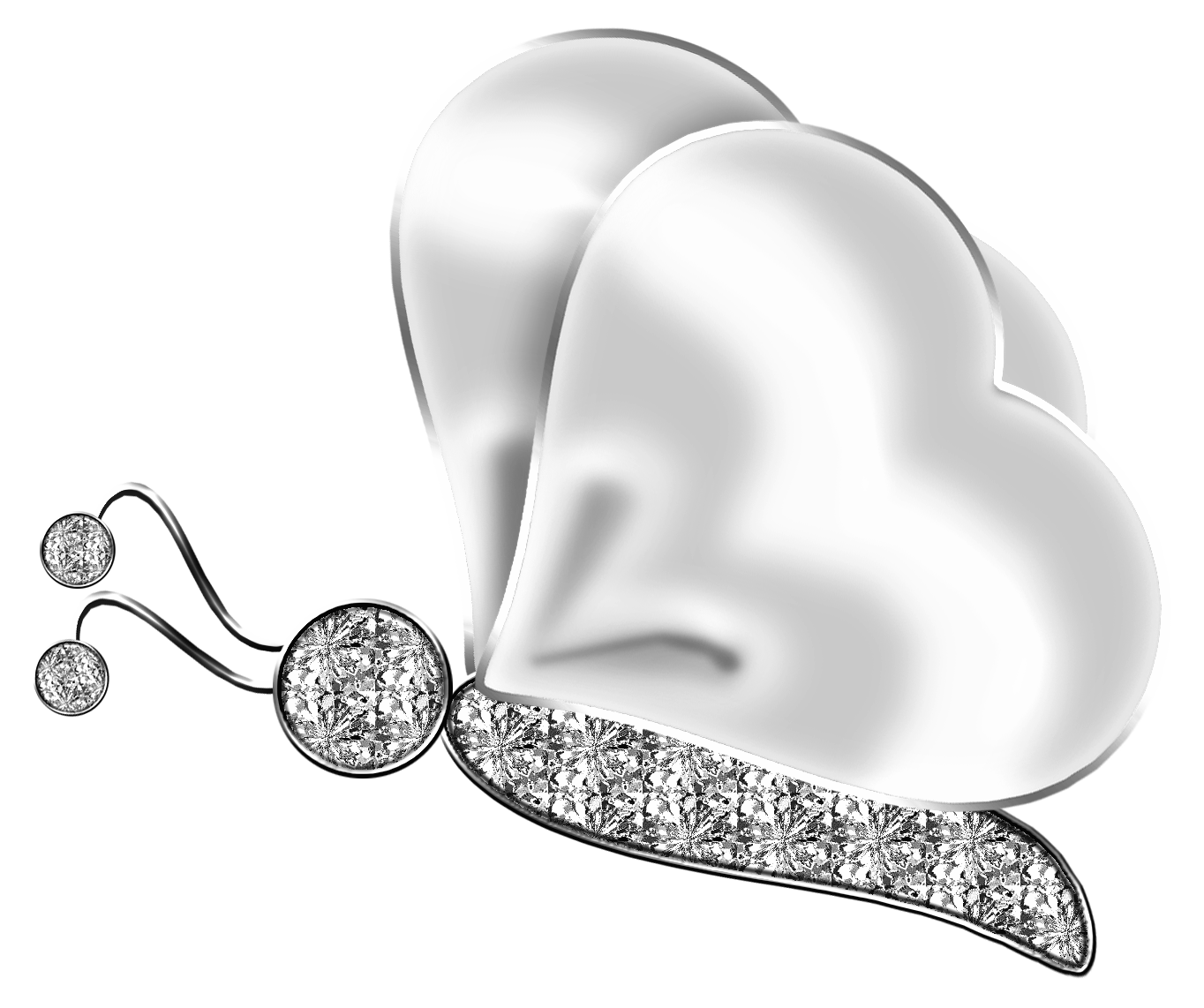 Silver png gallery yopriceville. Clipart butterfly diamond