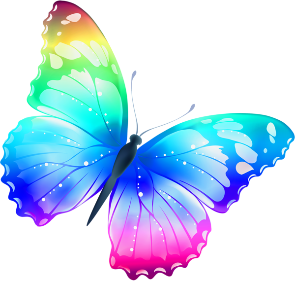 Clipart butterfly diamond. Large transparent multi color