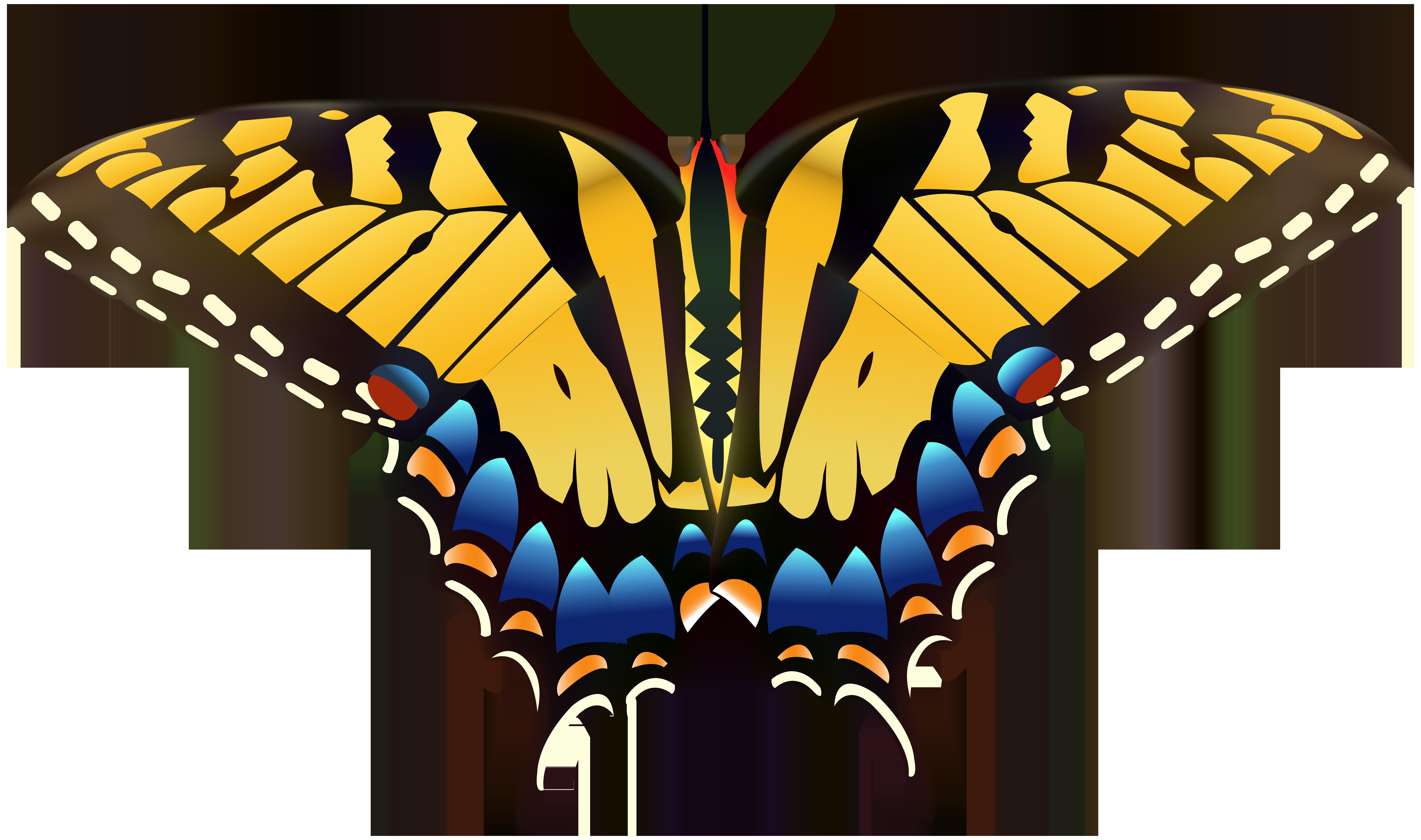 Clipart butterfly diamond. Yellow png clip art