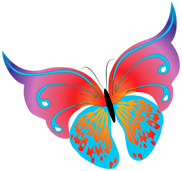 Png painted transparent butterfly. Moth clipart cute