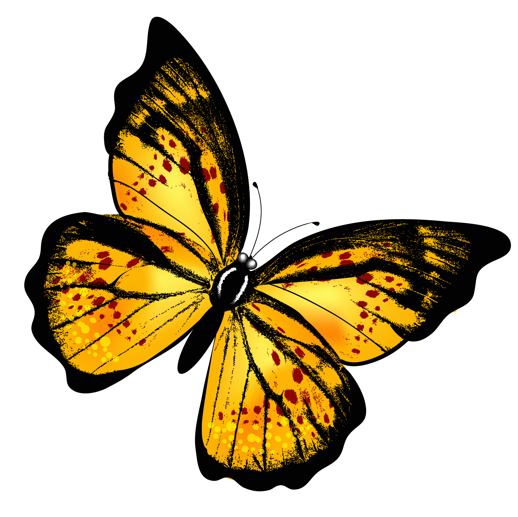 Clipart butterfly enchanted. Yellow transparent png picture