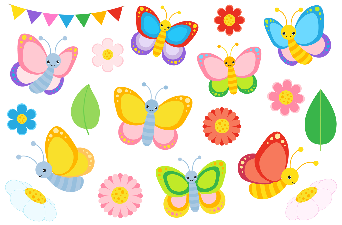 Worm clipart colourful. Butterfly and vectors by