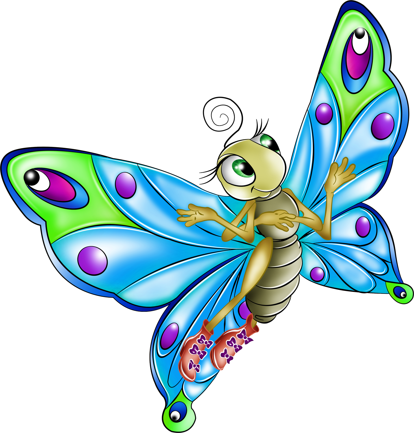 Cartoon drawing clip art. Clipart butterfly fairy