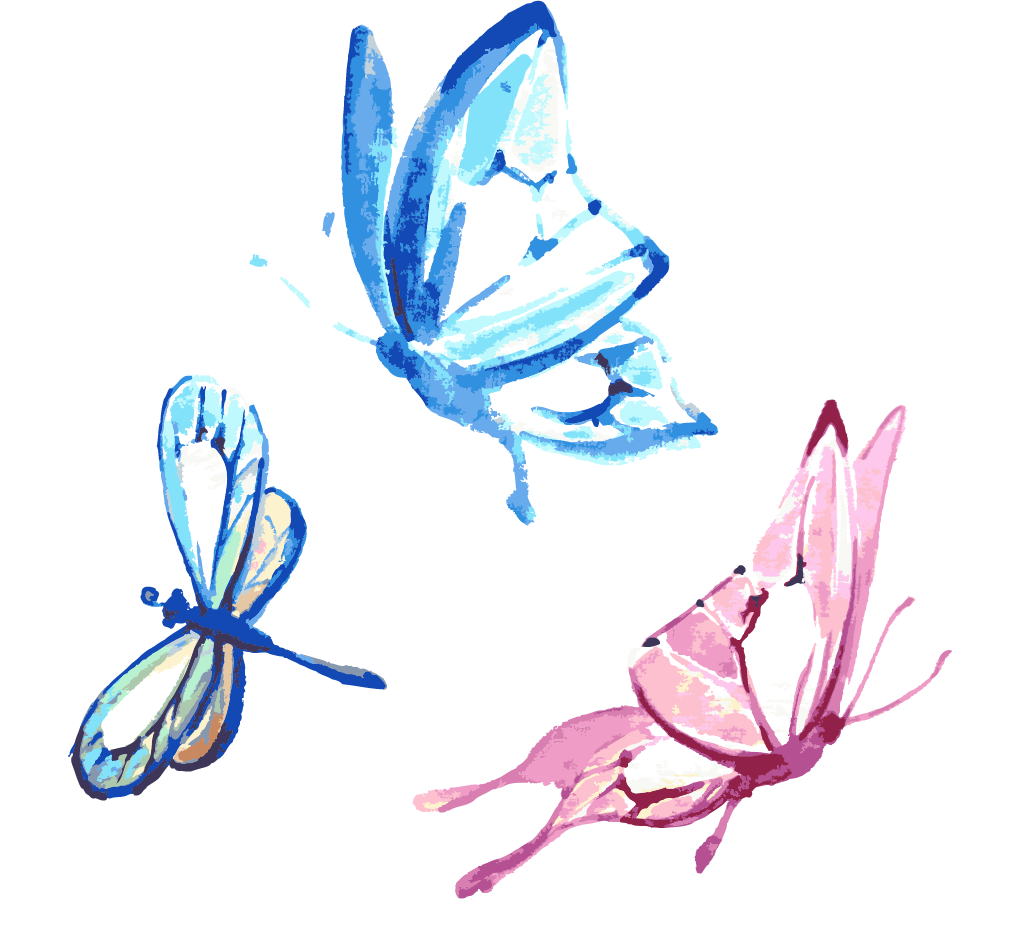 Feather clipart butterfly. Watercolor painting transprent png