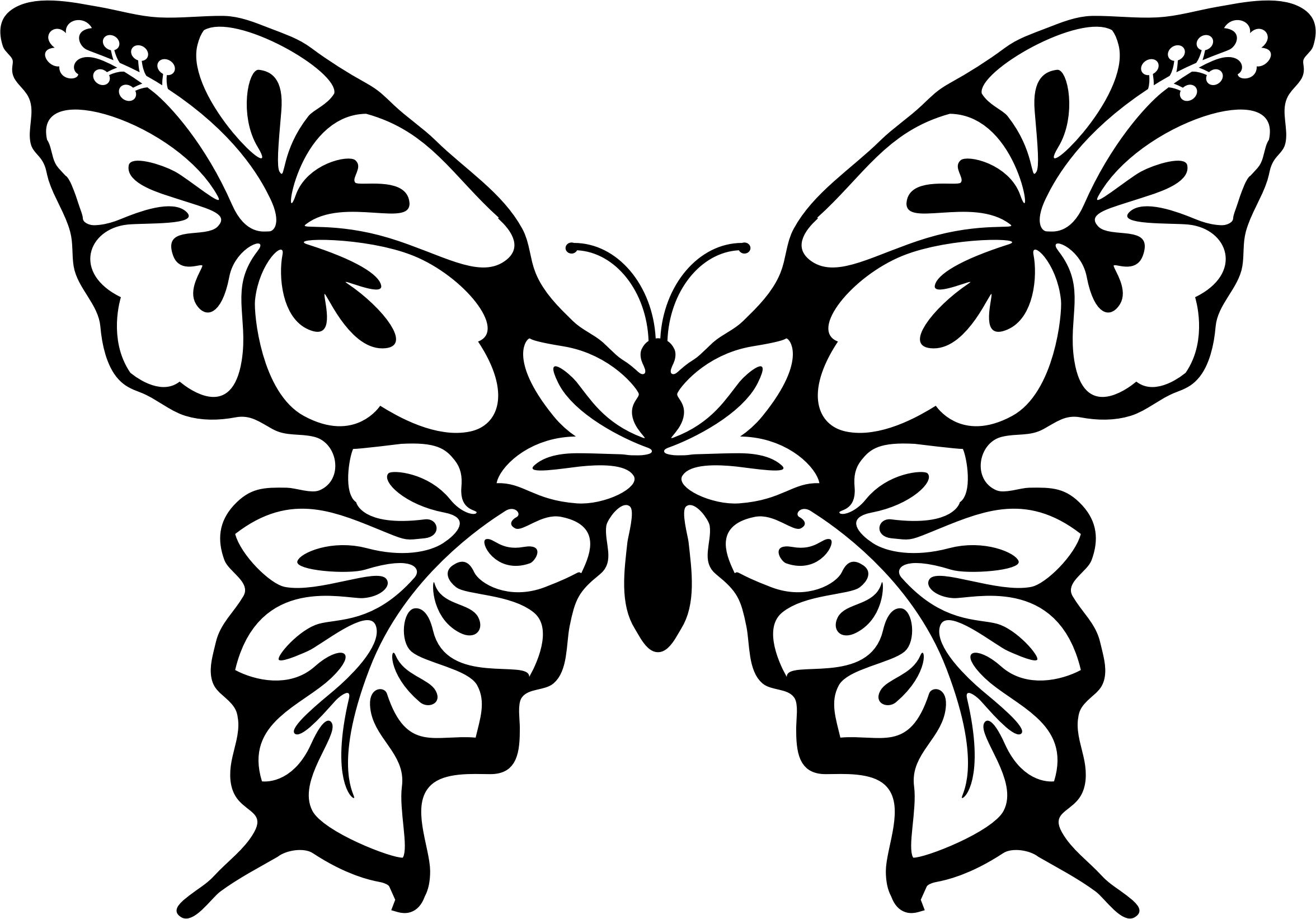 Clipart butterfly big image. Flower line art png