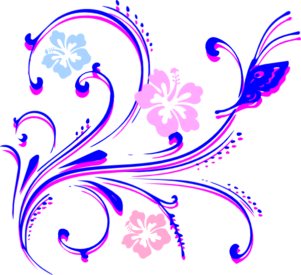 Clip art at clker. Clipart butterfly flower