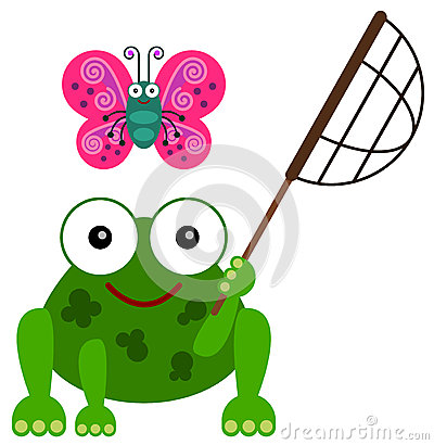 S hobby illustration net. Frog clipart butterfly