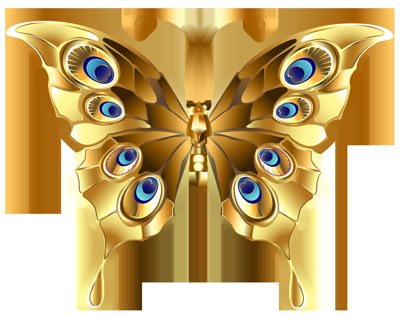 Butterfly png clip art. Gold clipart abundance