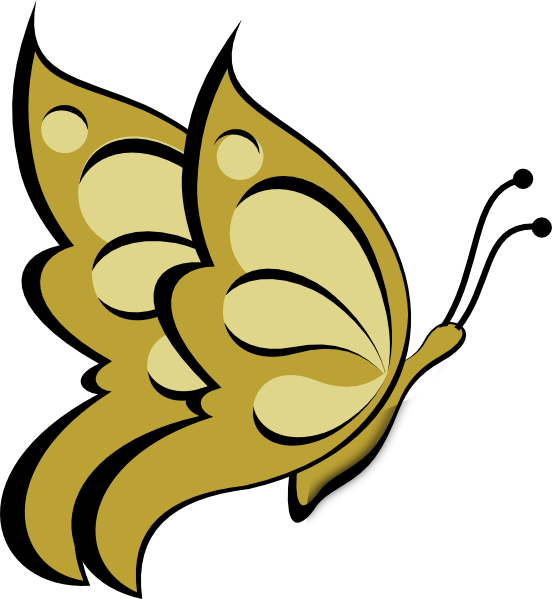 clipart butterfly gold