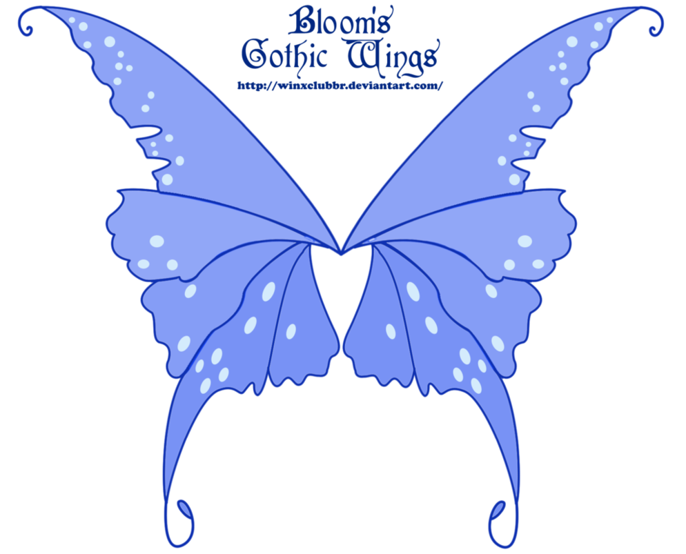 Winx club bloom s. Clipart butterfly gothic