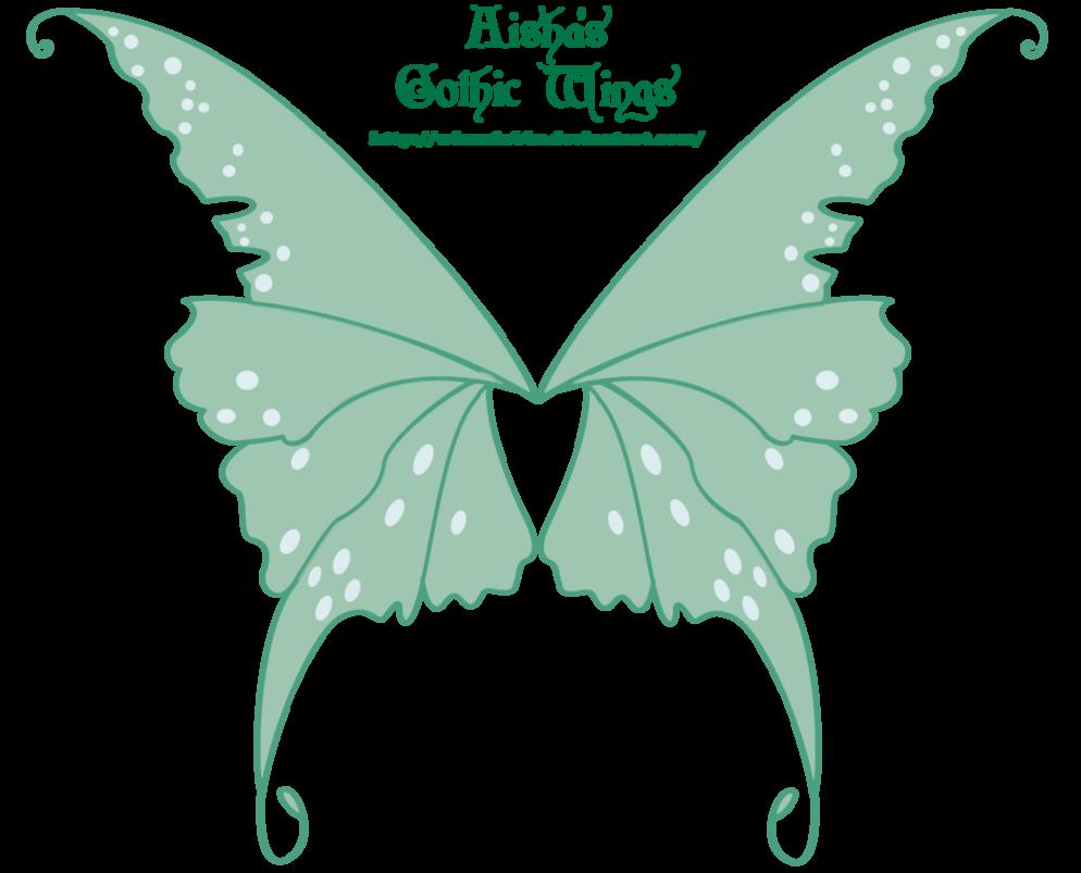 Winx club aisha s. Clipart butterfly gothic