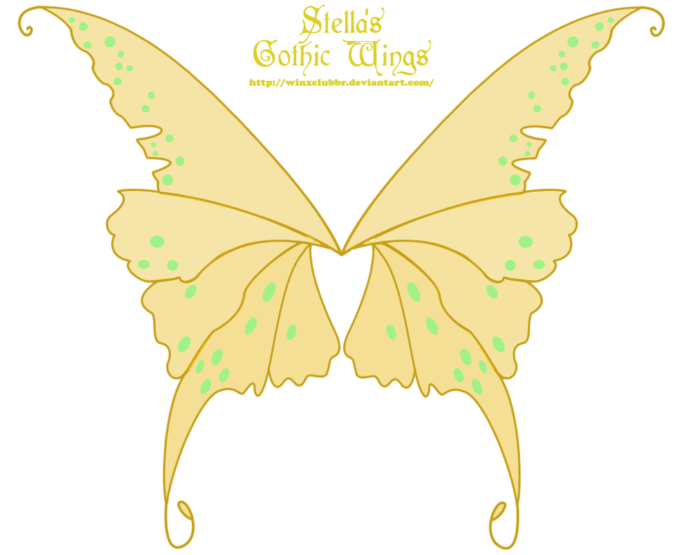 Winx club stella s. Clipart butterfly gothic