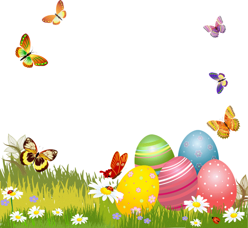 Butterfly egg greeting card. Ham clipart easter