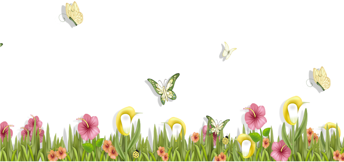 Clipart grass butterfly. With butterflies and flowers