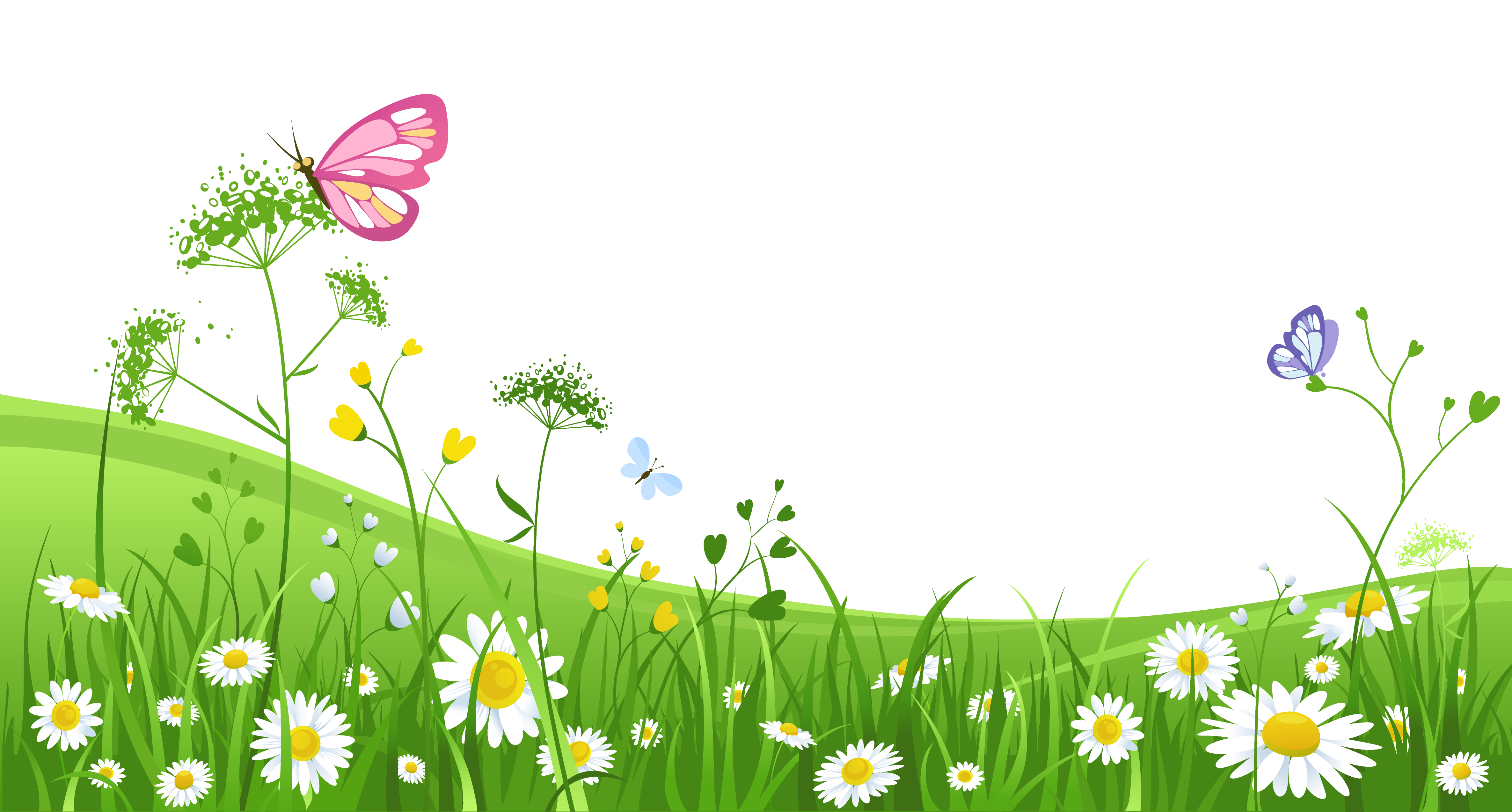 Pin by on power. Clipart grass butterfly
