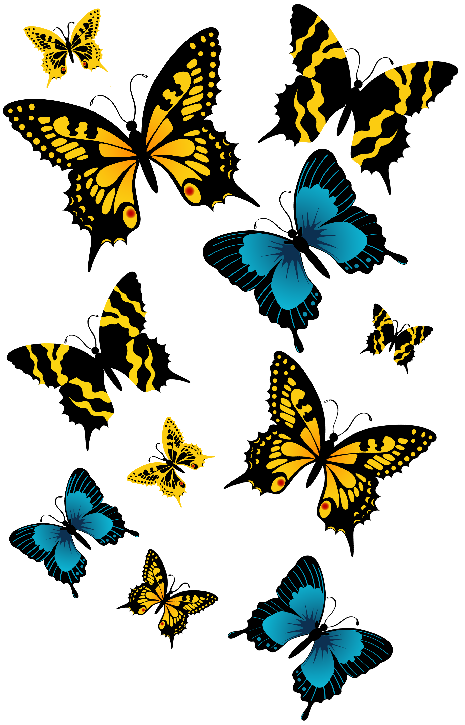 Butterflies png picture gallery. Clipart butterfly happy birthday