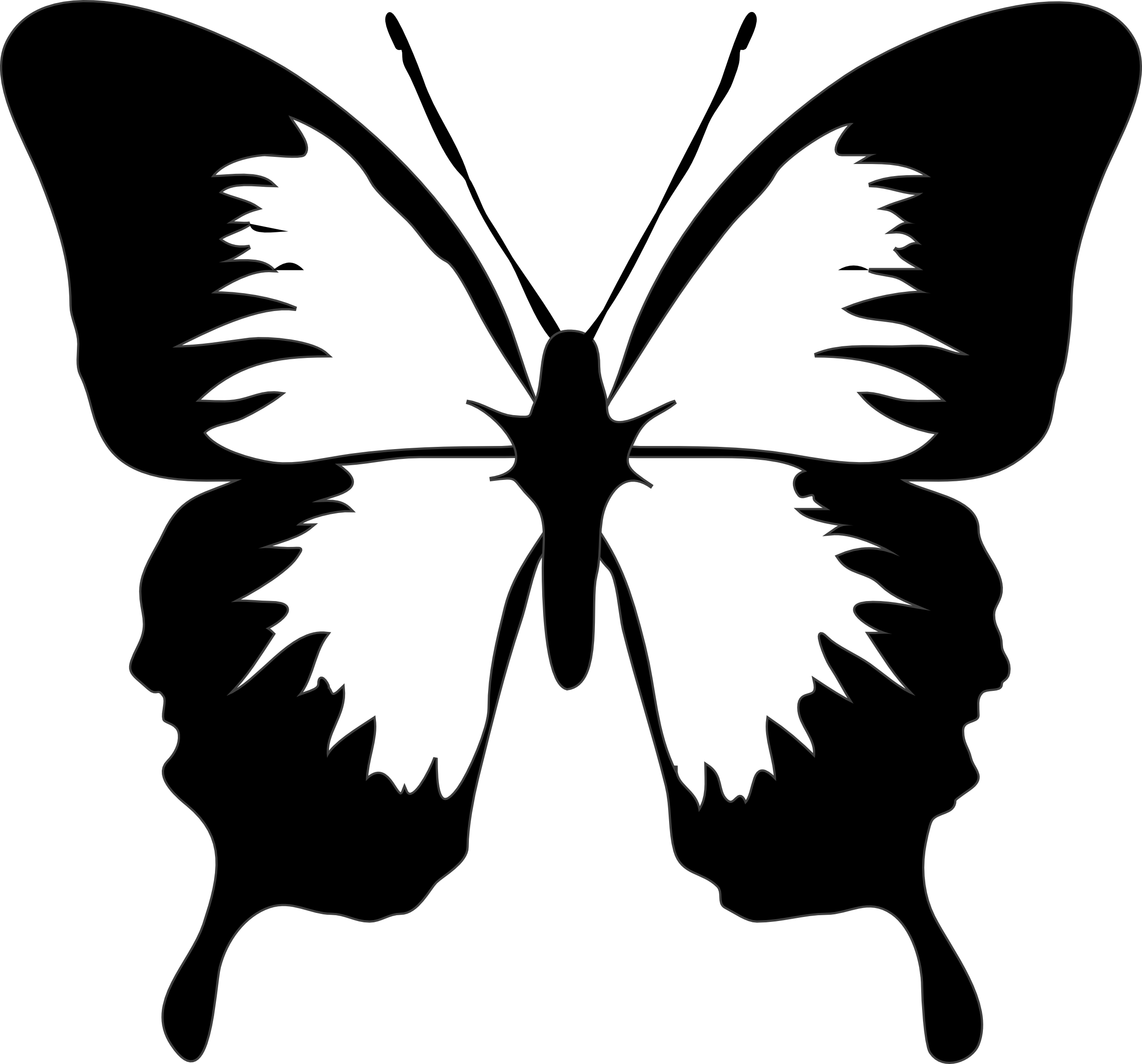 Butterfly clip art moth. Psychology clipart black and white