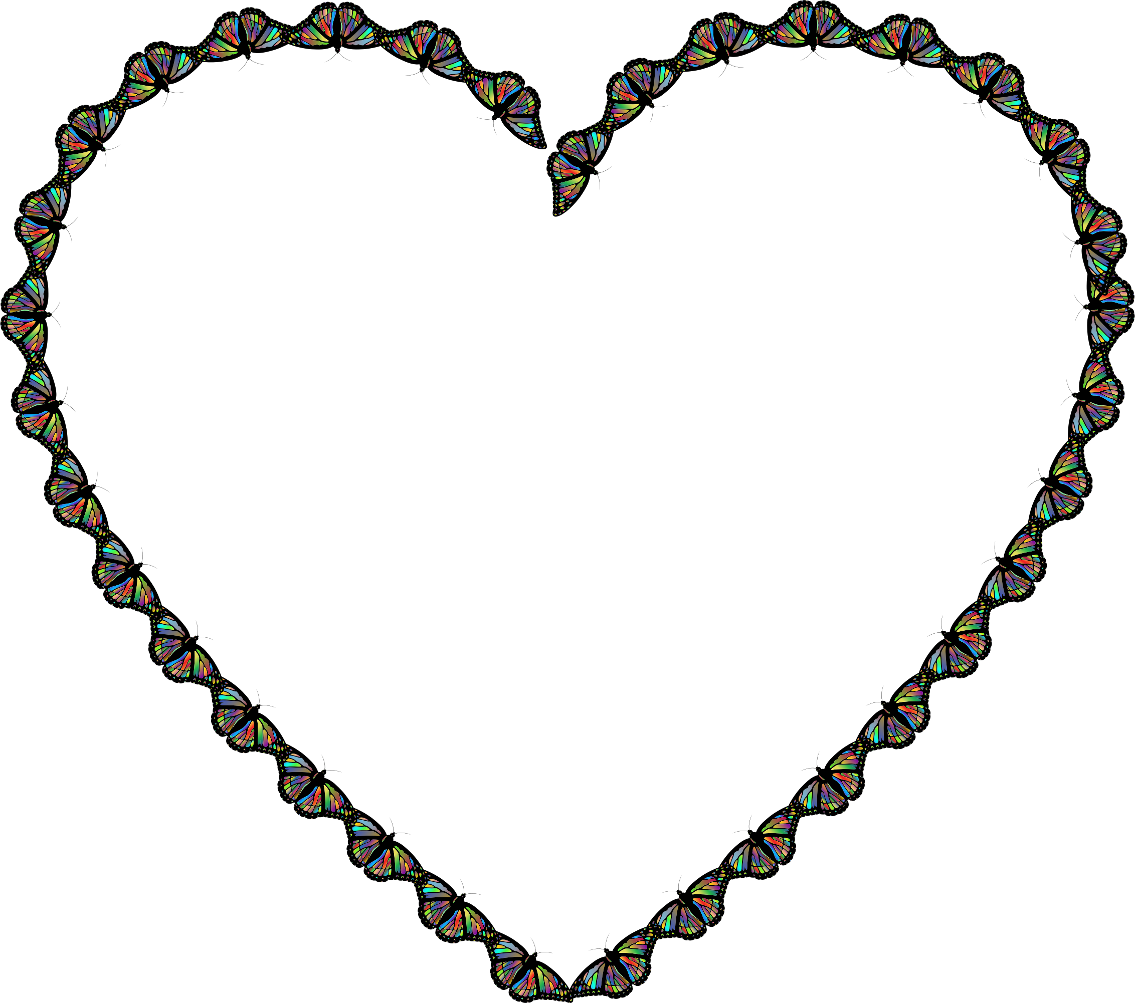 Hearts clipart butterfly. Heart big image png