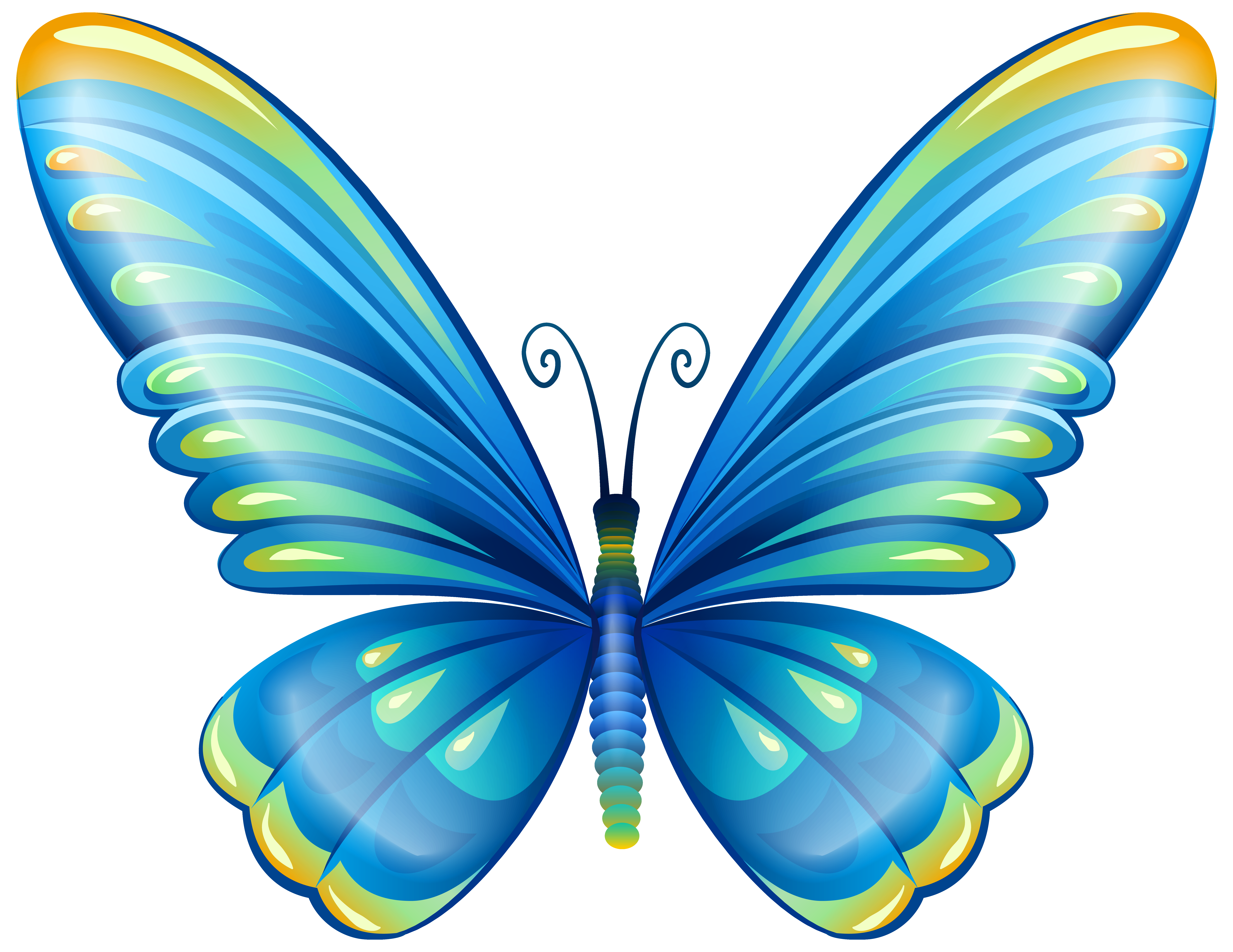Clipart butterfly insect. Large art blue png