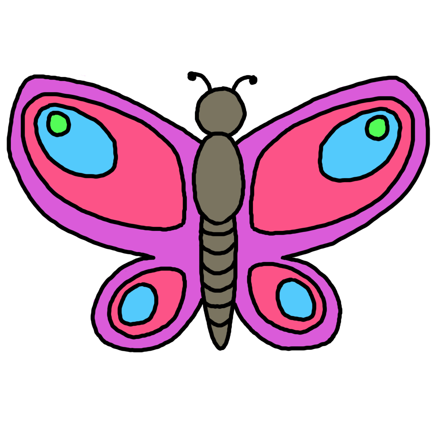 Clipart children butterfly.  collection of for