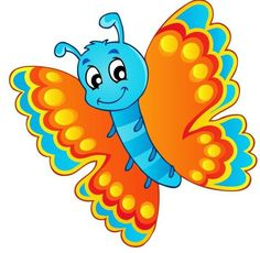 Clip art free download. Clipart butterfly kid