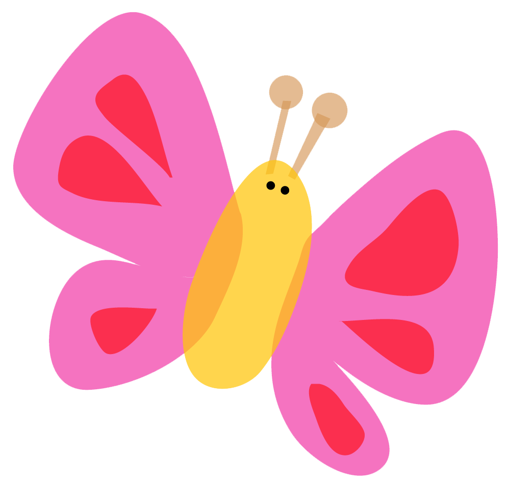 collection of cute. Clipart children butterfly