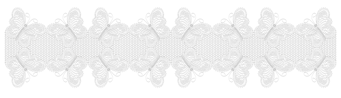 With butterflies decor png. Lace clipart brown lace
