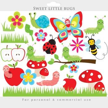 Cute bugs clip art. Ladybug clipart divider