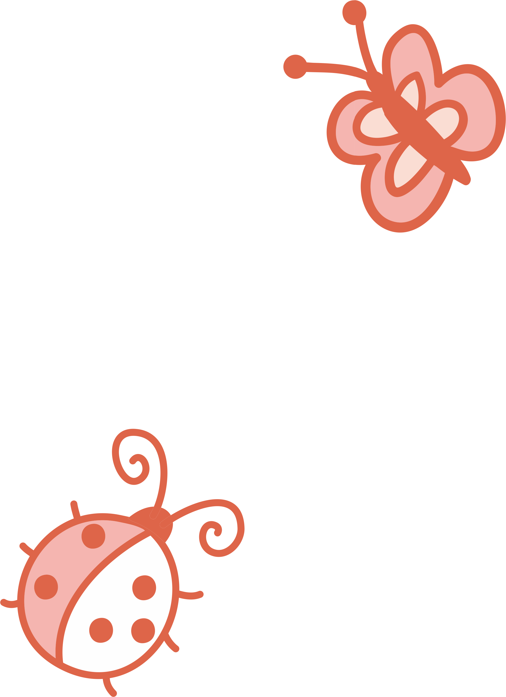 Cartoon drawing clip art. Ladybugs clipart butterfly