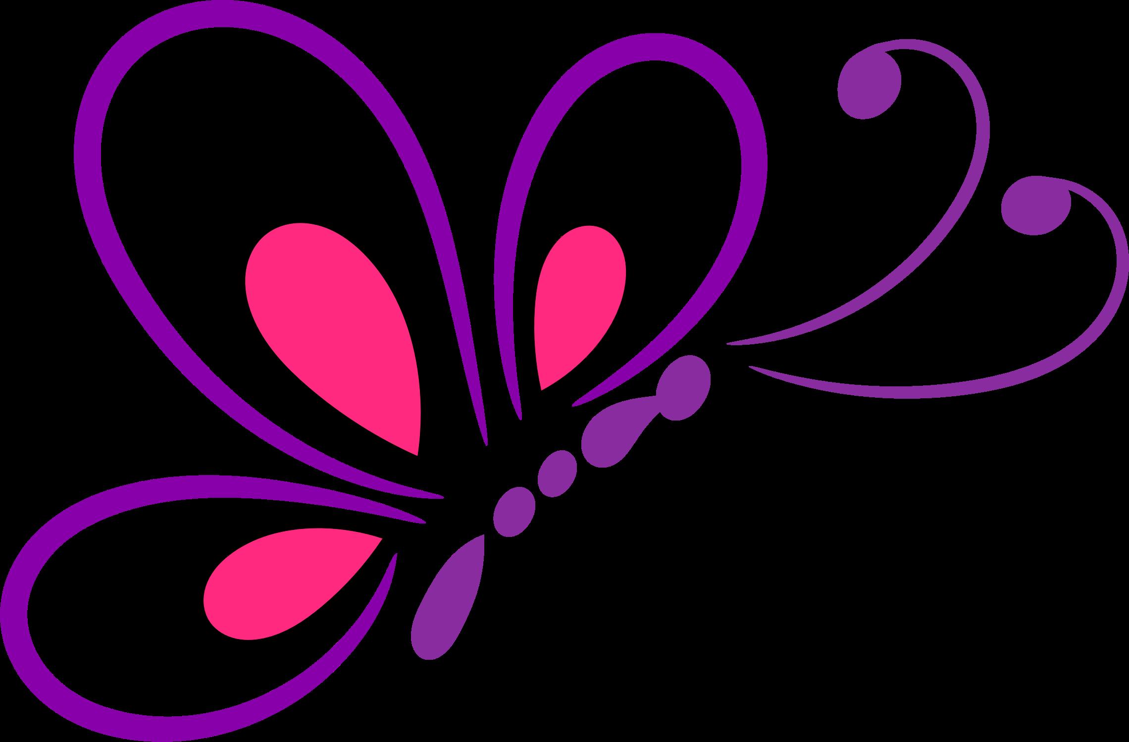 Line art big image. Heart clipart butterfly