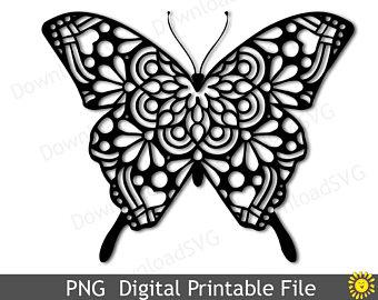 Svg etsy . Clipart butterfly mandala