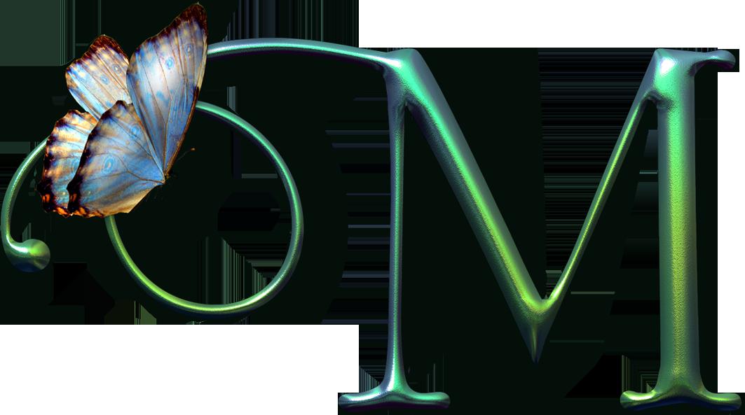 Alfabeto decorativo borboleta png. Clipart butterfly monogram