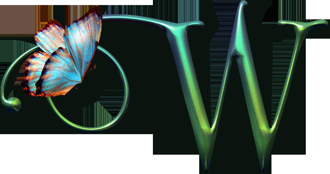 Clipart butterfly monogram. Flores y letras para
